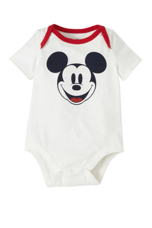 Mickey Mouse romper wit/zwart/rood
