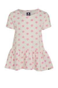 GAP T-shirt met sterren en volant roze/wit, Roze/wit