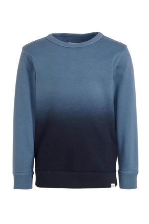 dip-dye sweater blauw/donkerblauw