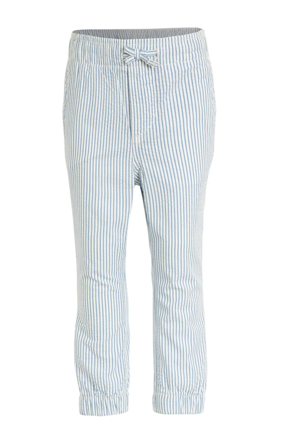 GAP gestreepte broek lichtblauw/wit, Lichtblauw/wit