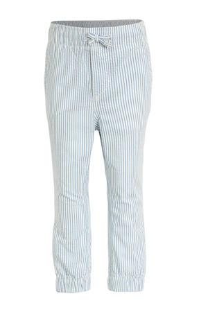 gestreepte broek lichtblauw/wit