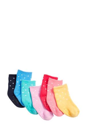babysokken (7 paar) met stipdessin multicolor