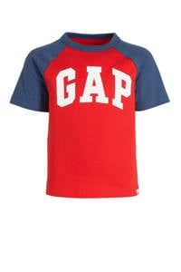 GAP T-shirt met logo rood/donkerblauw/wit, Rood/donkerblauw/wit