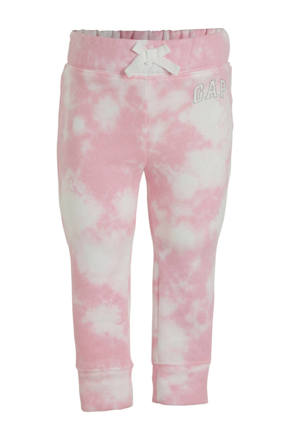 GAP broek met all over print roze/wit, Roze/wit