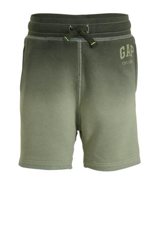 sweatshort army groen