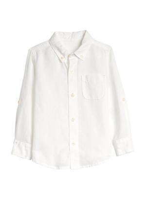 overhemd met linnen wit
