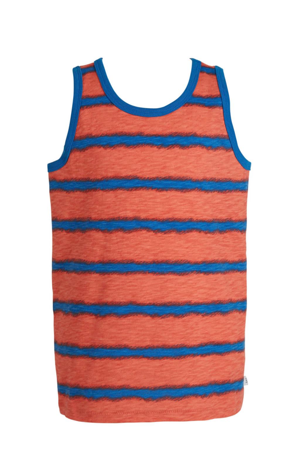 GAP gestreepte singlet oranje/blauw, Oranje/blauw