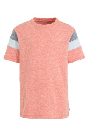 T-shirt oranje/blauw/wit