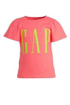 T-shirt met logo roze