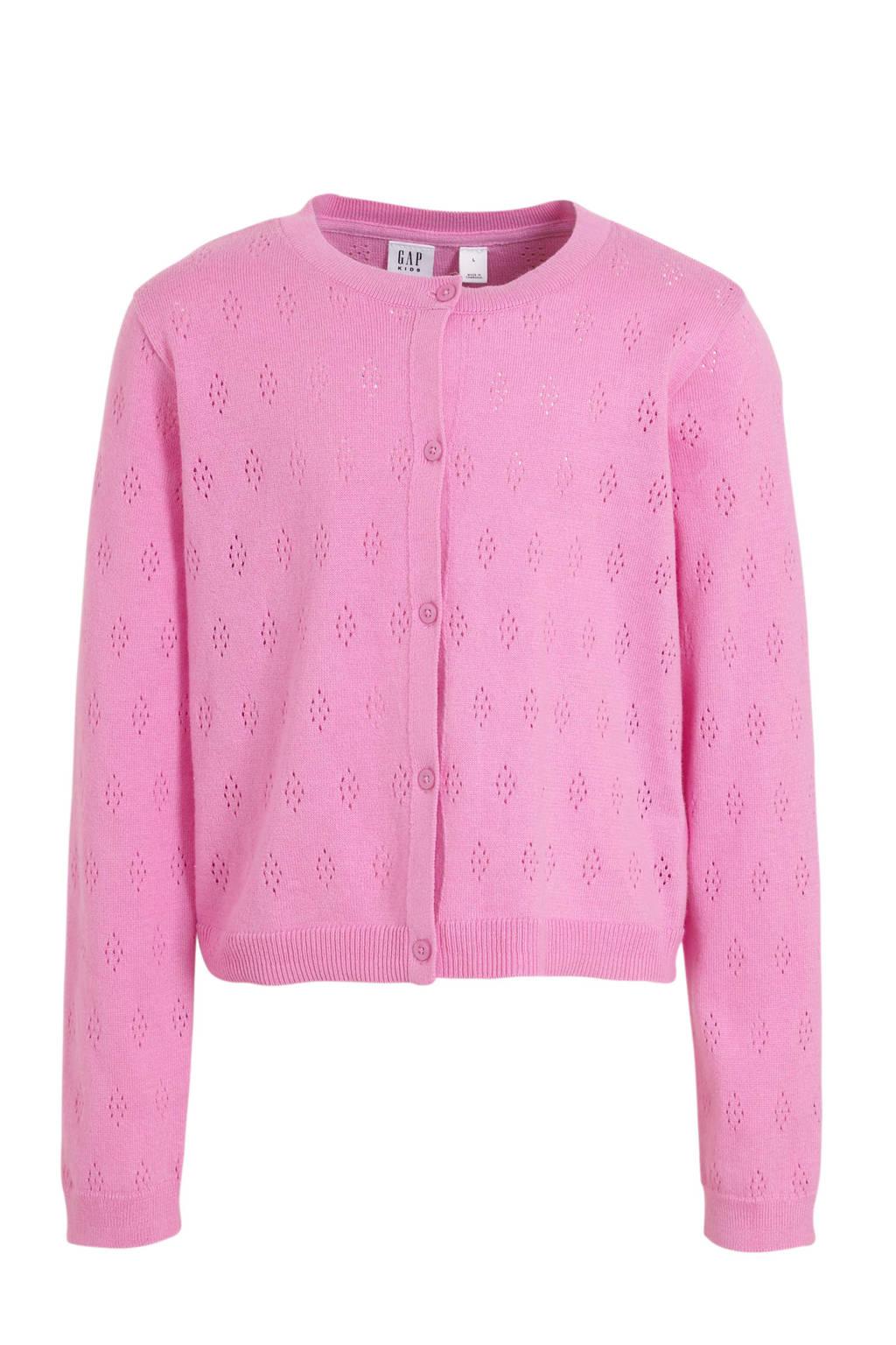 GAP fijngebreid vest roze, Roze