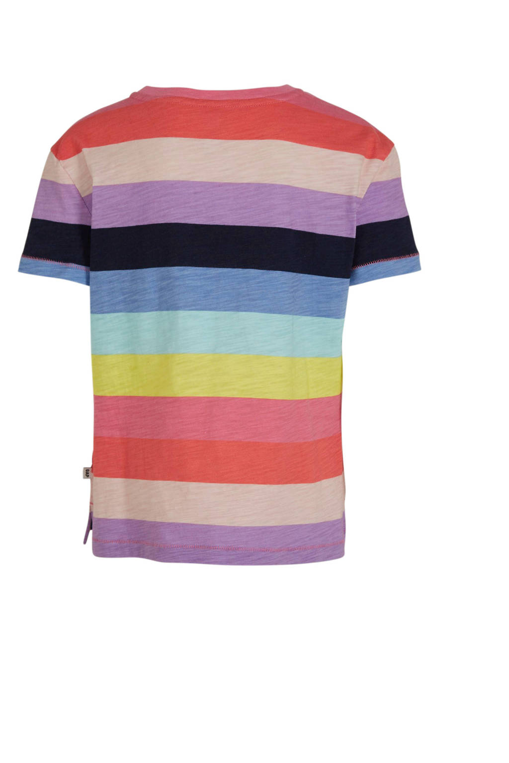 GAP gestreept T-shirt roze/multicolor