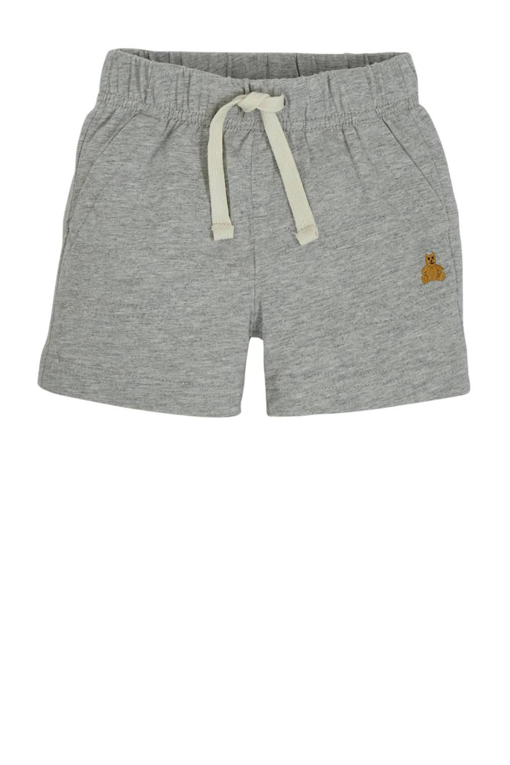 GAP baby sweatshort met borduursels grijs melange, Grijs melange