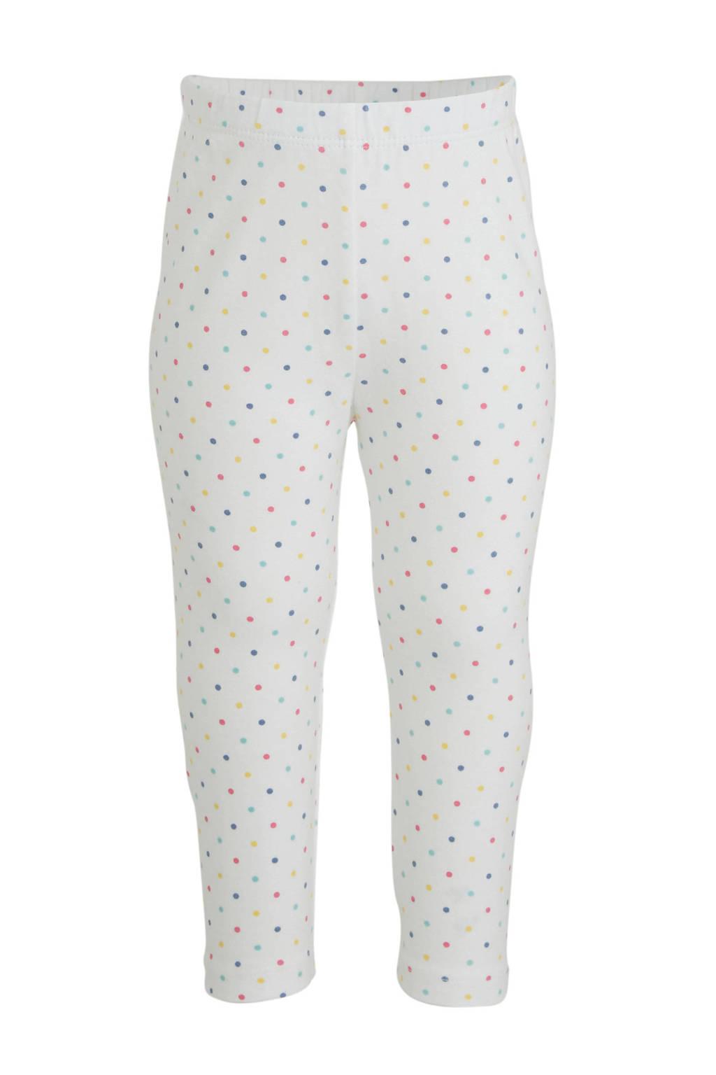 GAP baby broek met stippen wit/multi, Wit/multi