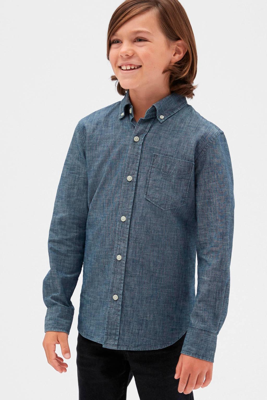 GAP overhemd antraciet, Antraciet