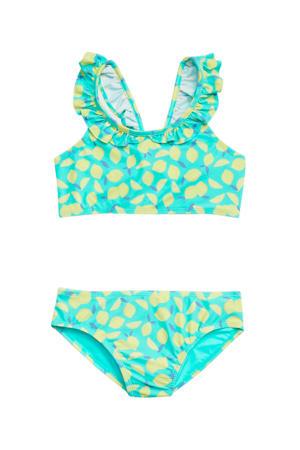 bikini met all over print mintgroen