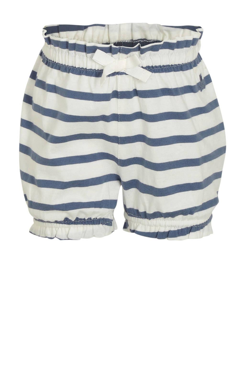 GAP baby gestreepte loose fit broek wit/blauw, Wit/blauw