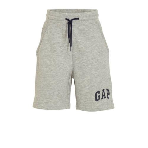 GAP sweatshort met logo grijs melange