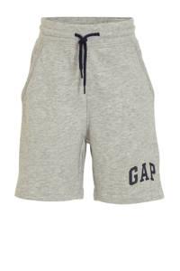 GAP sweatshort met logo grijs melange, Grijs melange