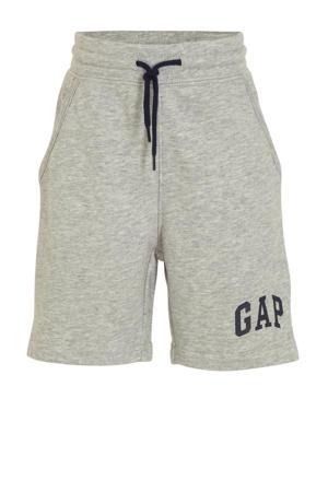 sweatshort met logo grijs melange