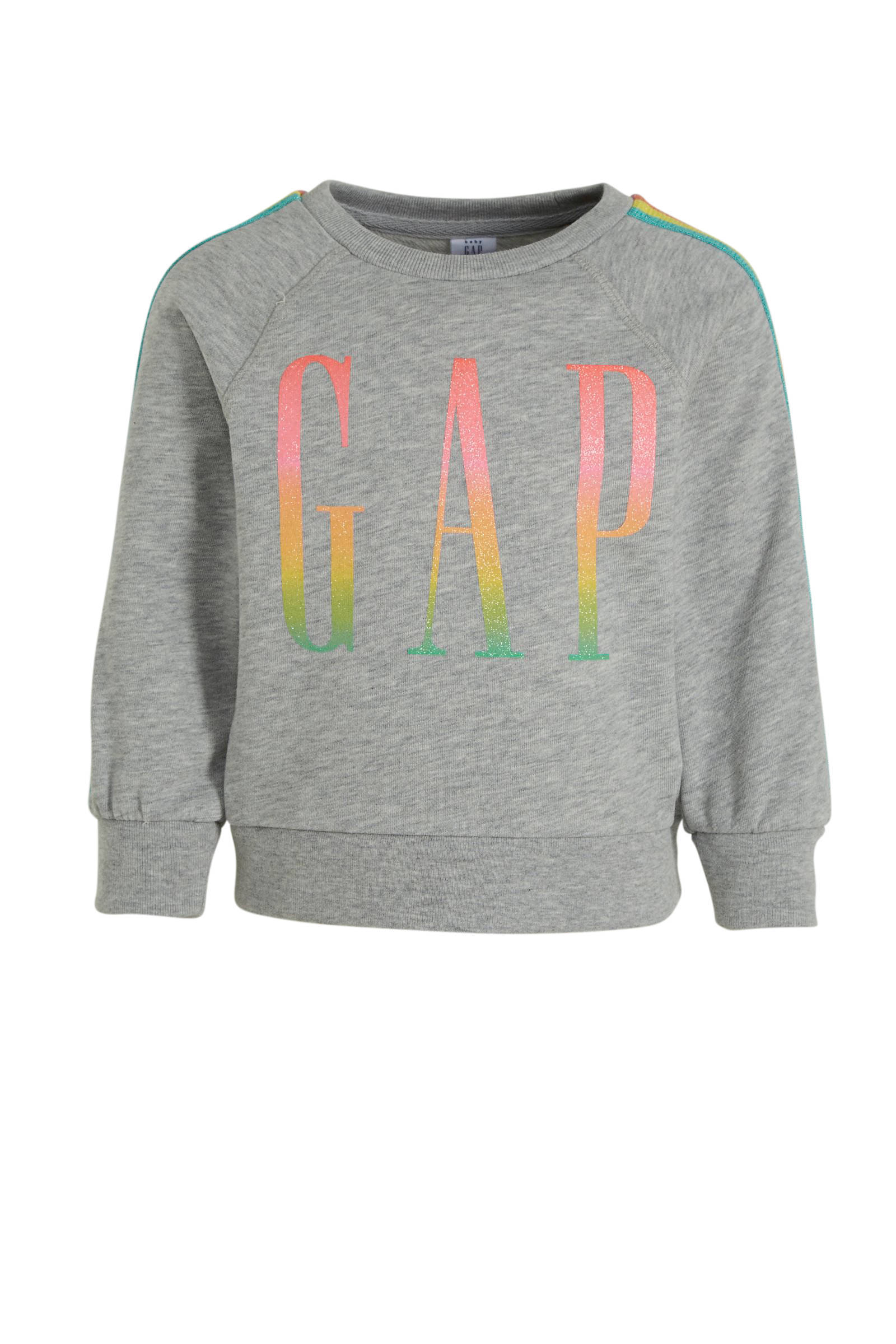 GAP baby sweater met tie dye dessin en logo rozewit   wehkamp