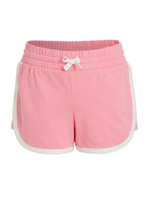 sweatshort roze/wit