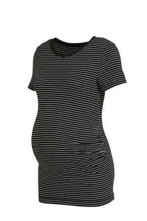 gestreept zwangerschapsshirt zwart/wit