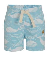 GAP baby short met all over print lichtblauw/wit, Lichtblauw/wit