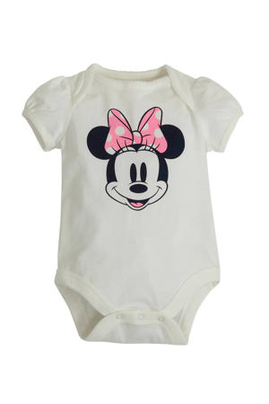 romper met Minnie Mouse print offwhite