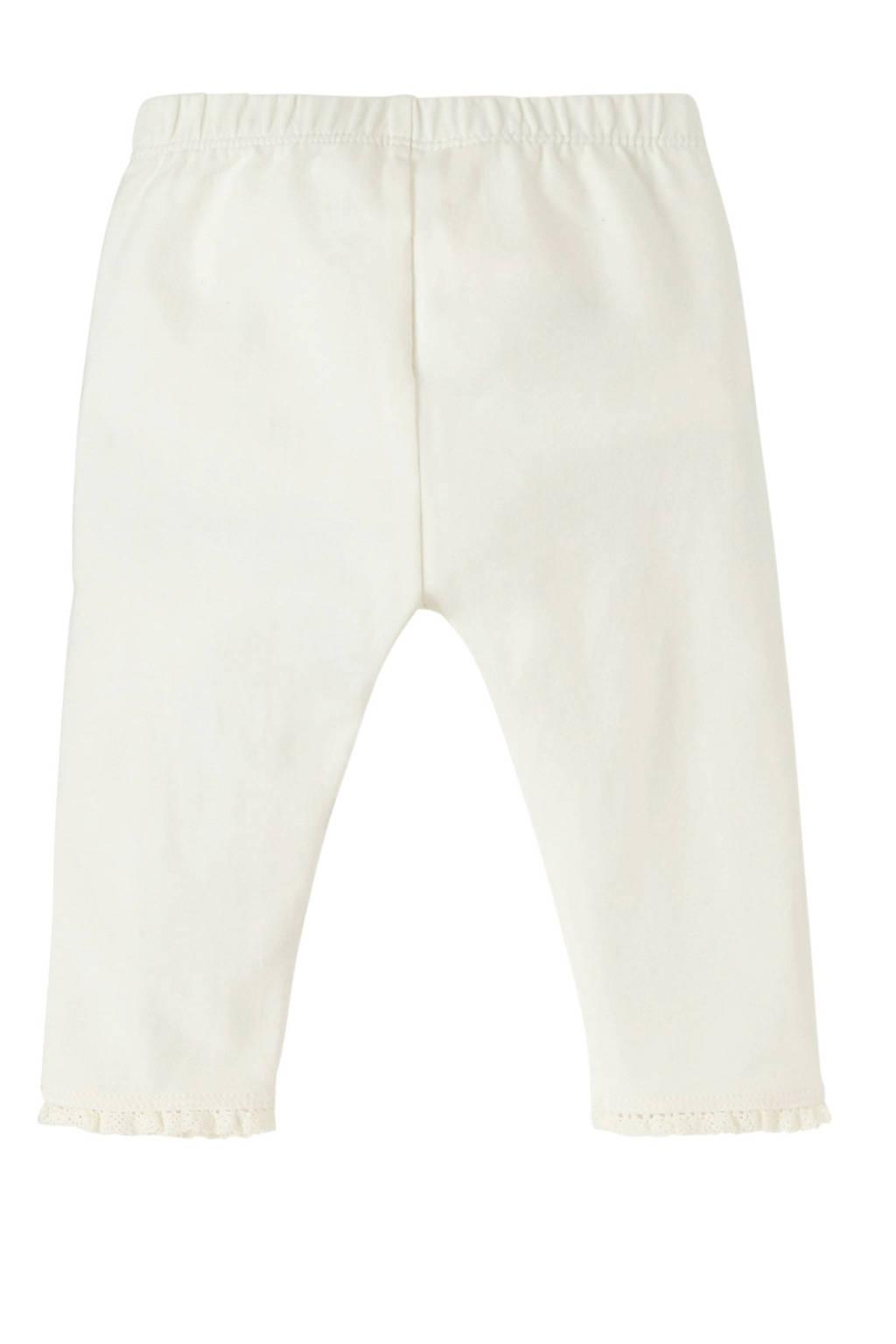 GAP baby legging met borduursels ecru, Ecru
