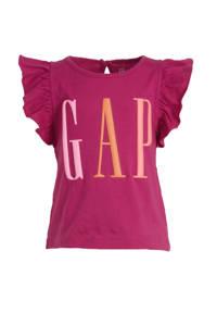 GAP T-shirt met logo en ruches meisjes, Meisjes