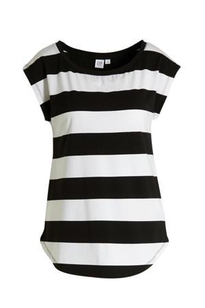 gestreept zwangerschapsshirt wit/zwart