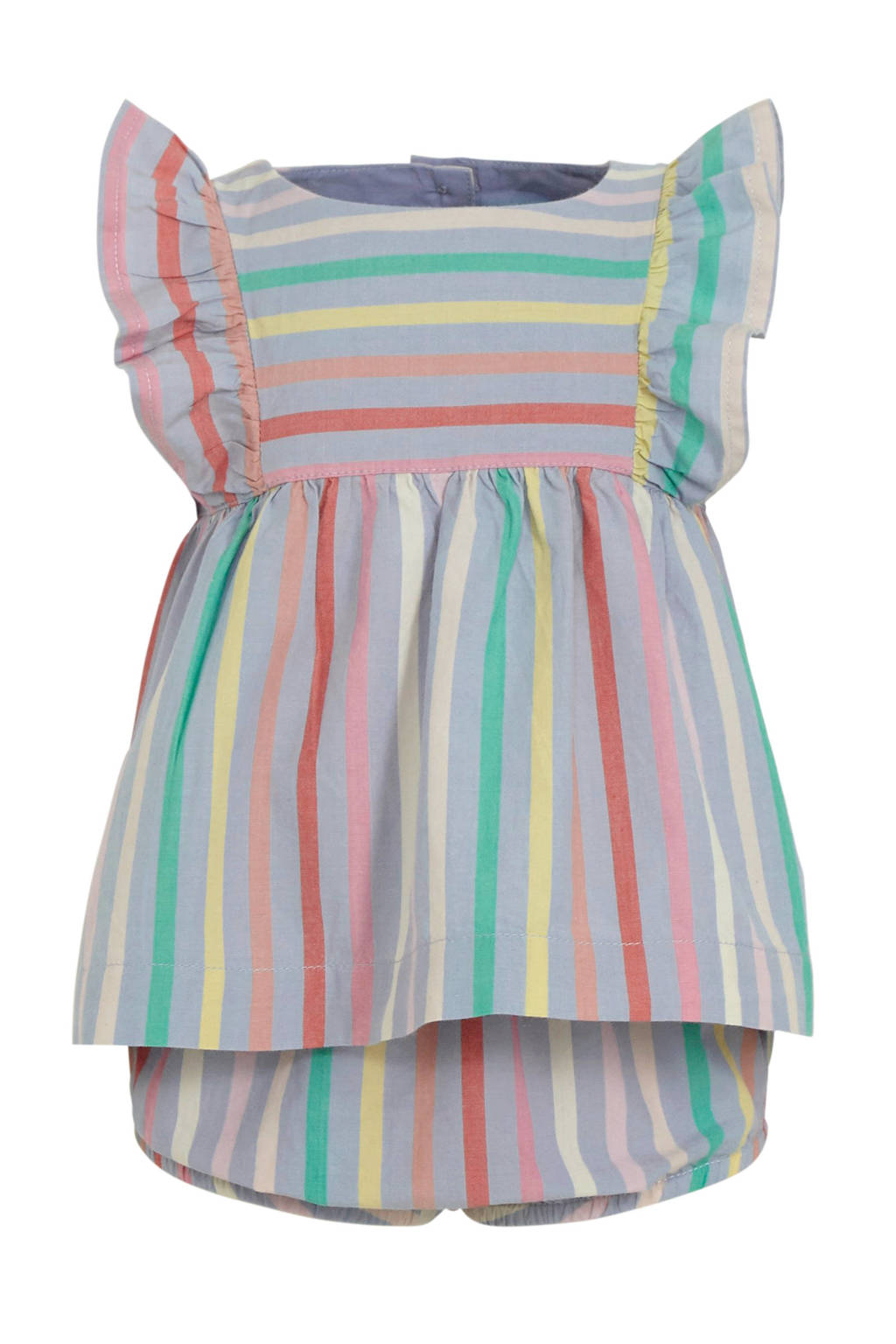 GAP gestreepte baby jurk + broek lila/multi, Lila/multi