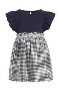 GAP geruite jurk donkerblauw/wit, Donkerblauw/wit