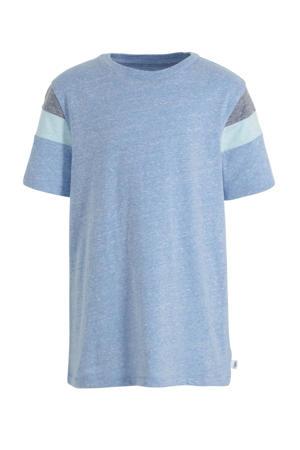 gemêleerd T-shirt lichtblauw