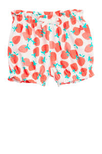 GAP baby short met all over print wit/rood/turquoise, Wit/rood/turquoise