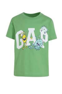 GAP T-shirt met logo groen/wit, Groen/wit