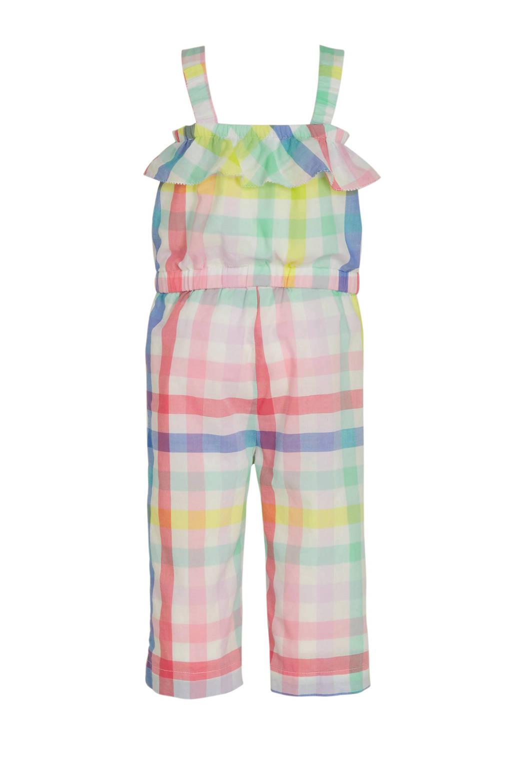 GAP geruite jumpsuit roze/multi, Roze/multi