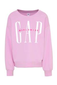 GAP sweater met tekst lila, Lila