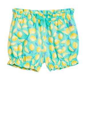 baby short met all over print lichtblauw