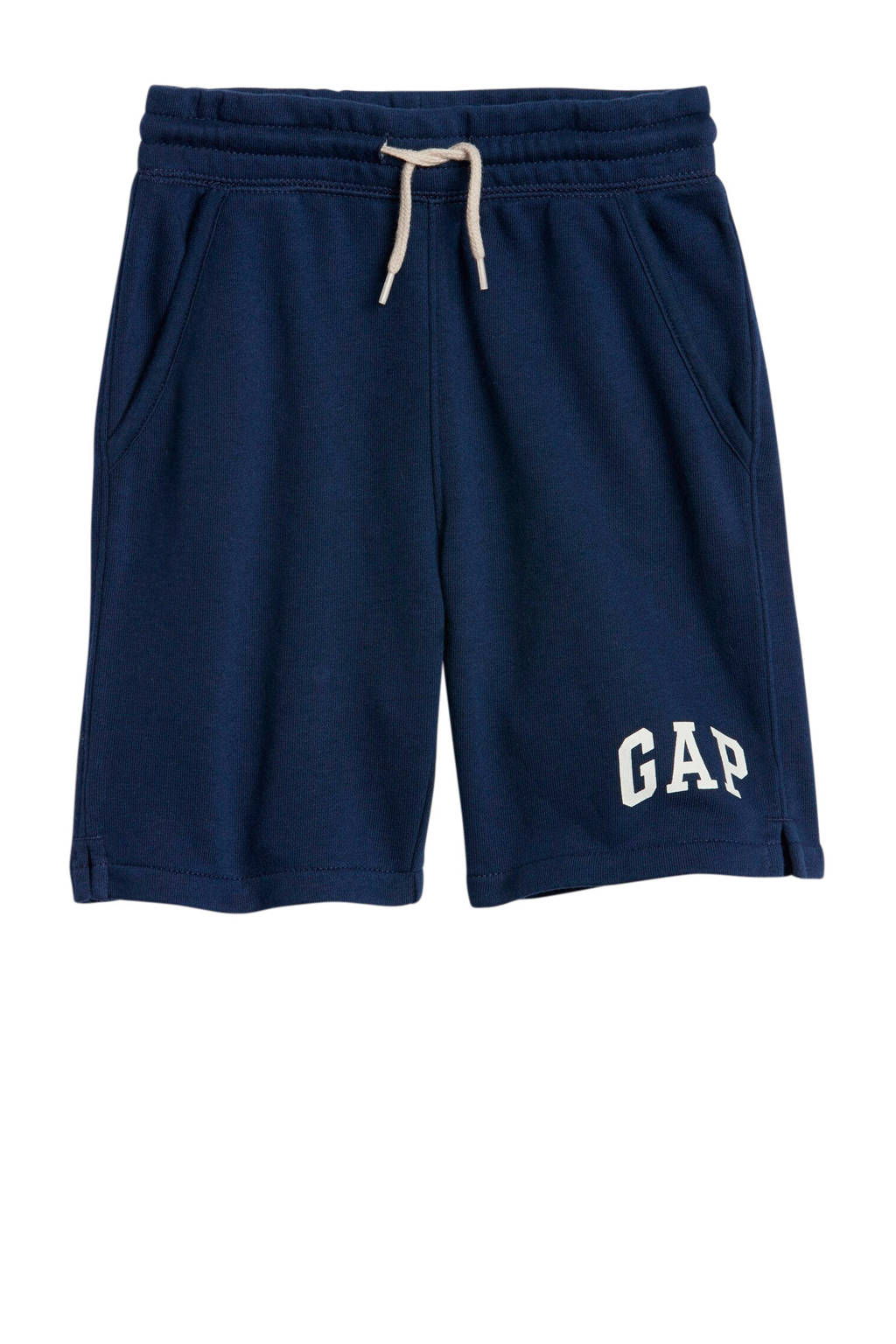 GAP sweatshort met logo donkerblauw, Donkerblauw