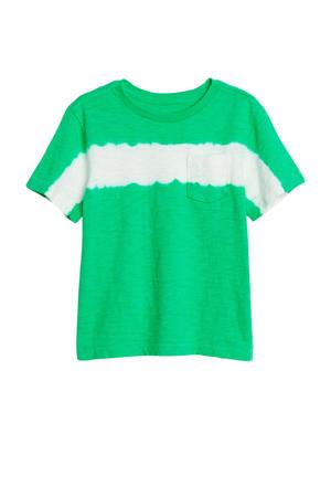 tie-dye T-shirt groen/wit