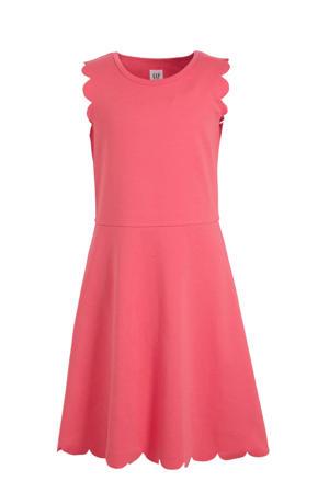 jersey jurk koraalrood