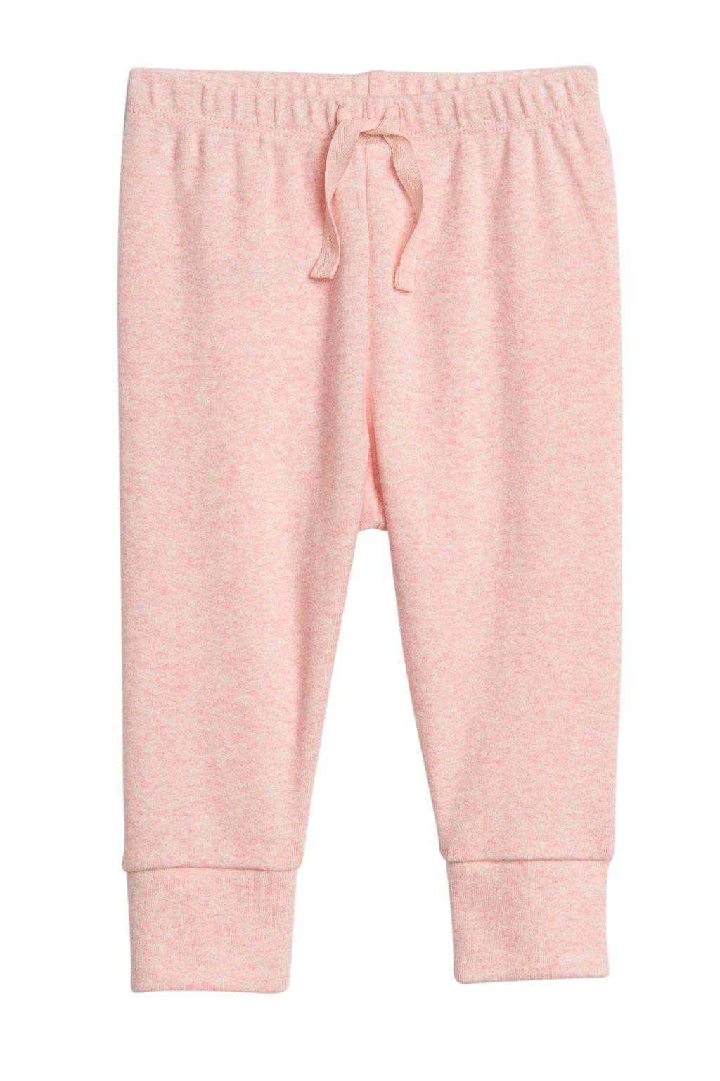 GAP baby gemêleerde broek roze melange, Roze melange