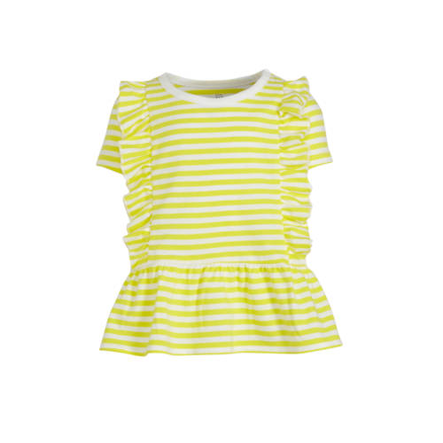 GAP gestreept T-shirt geel/wit