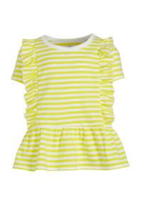 GAP gestreept T-shirt geel/wit, Geel/wit