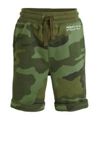 GAP loose fit sweatshort met camouflageprint groen, Groen