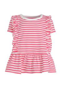 GAP gestreept T-shirt roze/wit, Roze/wit
