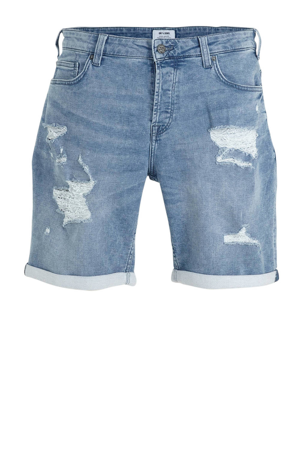 ONLY & SONS regular fit jeans short blauw, Blauw