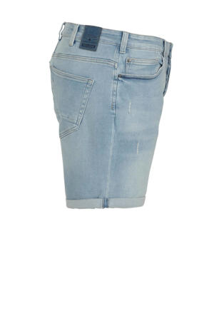 slim fit jeans short lichtblauw
