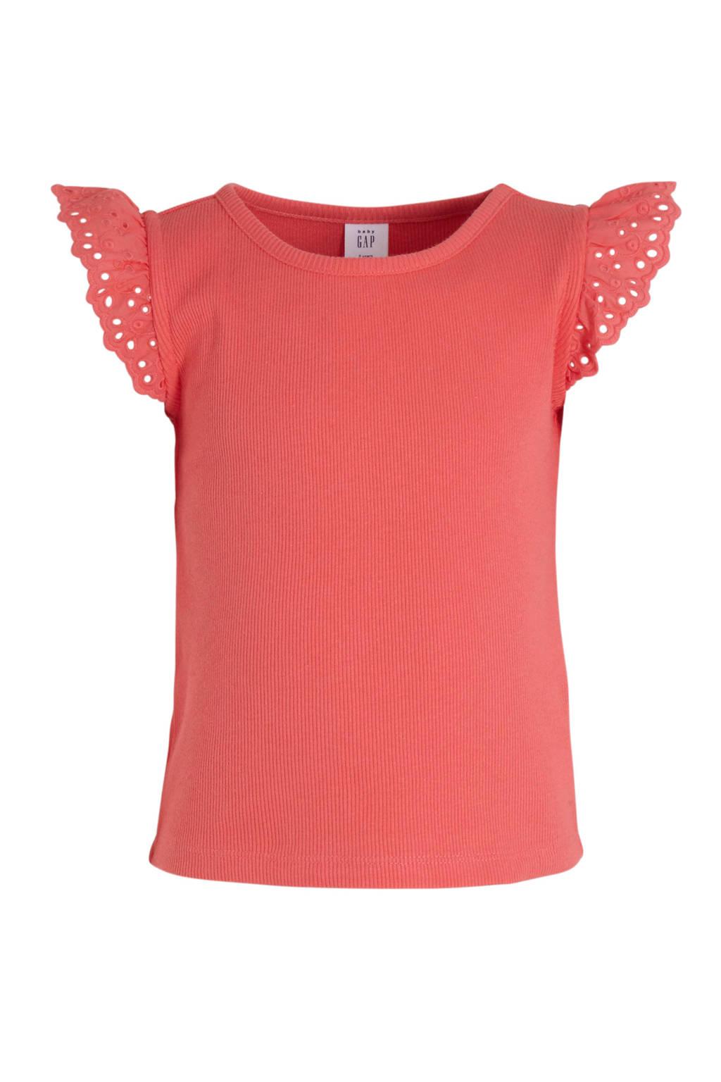 GAP T-shirt koraalrood, Koraalrood